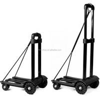 Enhanced Strong Version 4 Wheel Folding Portable Shopping Cart Loading 75KGS, Upgrade Generation Foldable Hand Trolley