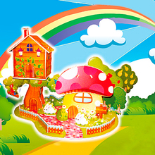 Popular Children's Learing 3d puzzle kids educational toys house