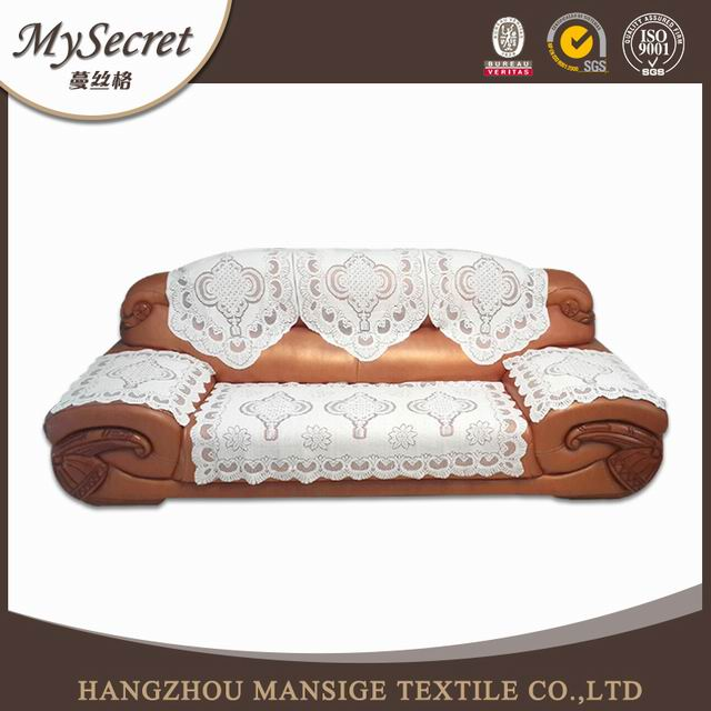 2016 newst polyester lace sofa back and armrest cover