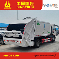 Howo waste compactor trucks for sale
