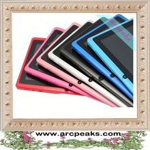 most affordable capacitive super thin 7 inch Q88 tablet pc with keyboard and sim card