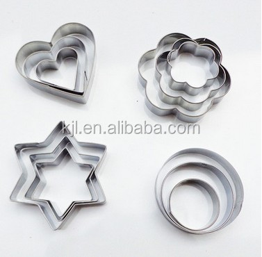 Stainless stell 430 cookie cutter with tin box
