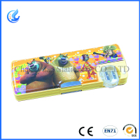 (CY81) Hot selling fashion plastic PVC cotton pencil case with sharpener