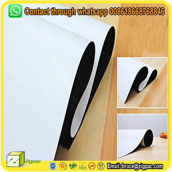 A4 blank double sided adhesive thin pvc laminated soft big whiteboard roll magnetic rubber sheet material fridge flexible magnet