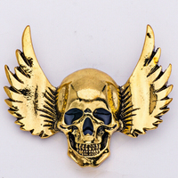 High Quality Charm RhineStone Skull Brooch Halloween Personality Accessories Wholesale
