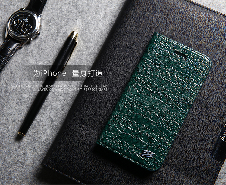4.7 inch Mobile phone flip cover crocodile lines leather case for iphone 6s