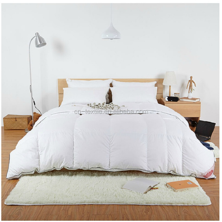 100% Pure Cotton King Queen Full Twin Size 40% Whites Goose Down Duvet Quilt Doona Blanket Comforter