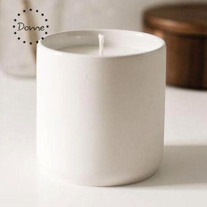 12OZ Tea-light White Candle Vessels Candle Container Matt Ceramic Candle Jar