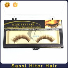 Hot Top Quality 3d Real Mink Fur False Human Hair Fake Lashes