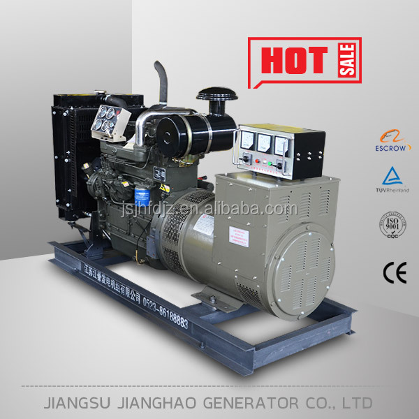 China factory 3 phase 30kw small water cooled weichai diesel engine dynamo generator set for sale