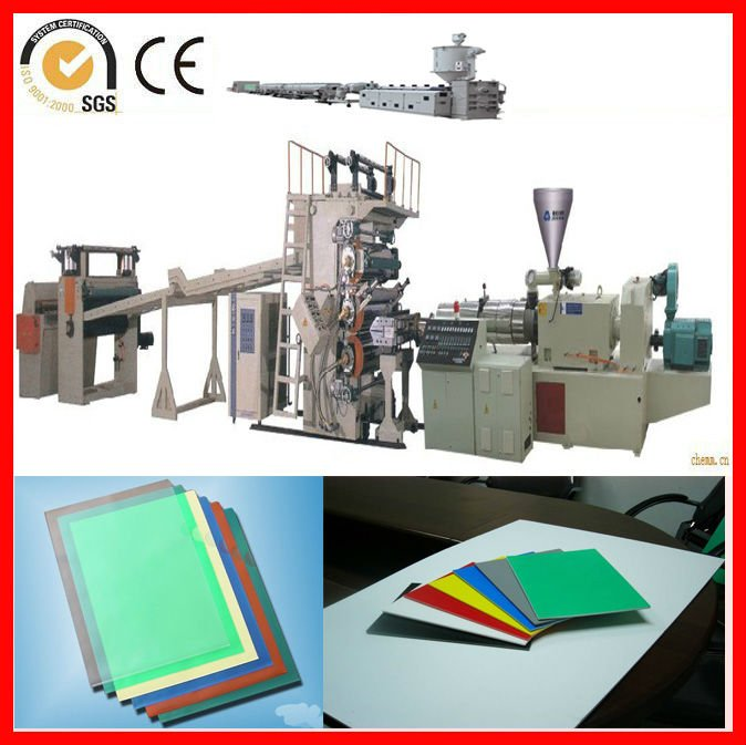PP/PE thick board machine with co-extrusion