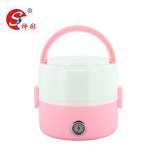 2 Tiers Mini Food Steamer Warmer Electric Cooking Appliance 1.2 Portable Lunch Box