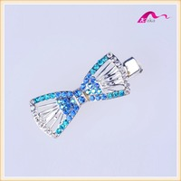 Manufacturer Fashion Elegant High-quality Wedding Hair Ornaments Decorated Crystal Bowknot Alligator Hair clips