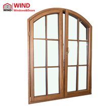 Curved house double glazed arched windows for sale grill design