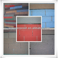 Colorful asphalt shingles roofing tiles