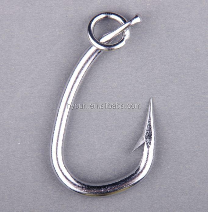 Stainless steel saltwater fishing hook tuna hook buy for Stainless steel fishing hooks