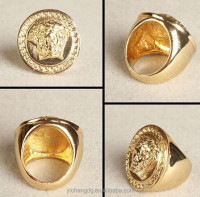 2015 Hot sell latest Ring 18k Gold Stainless Steel Rig Rings For Men And Women Jewelry