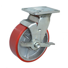 machinery caster wheel and side mount PU castor and wheel