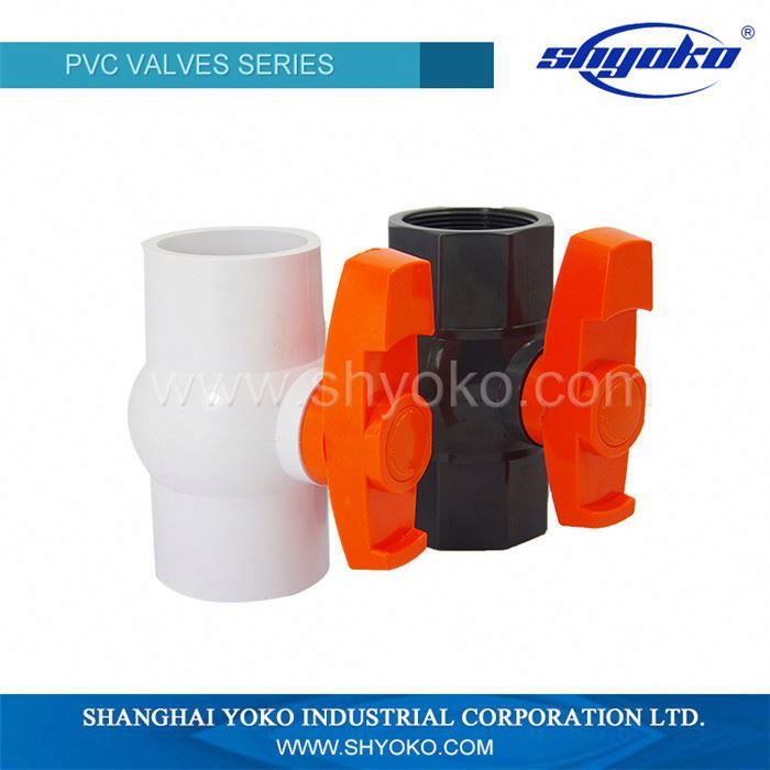 Low Price Guaranteed Quality socket and thread pvc ball valve