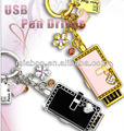 2013 most popular leather usb pen drive 4gb/8gb/16gb/32gb/64gb, charms and pendants usb with crystals