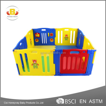 luxury baby playpen with ASTM certificate, 2017 the best hot selling model large playpen for babies