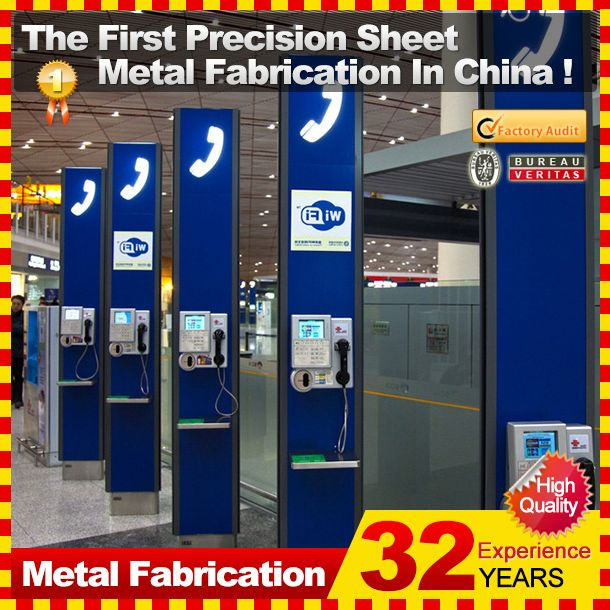 2014 hot sale professional customized metal telephone phone booth for sale