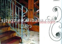 Nice t wrought iron handrails outside/inside stairs