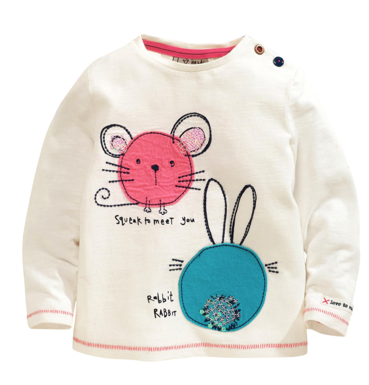 TC-TS001 O-neck beautiful baby girl boy t shirt wholesale with dot pattern / custom baby t shirt printing