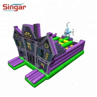 Inflatable halloween bounce house castle game