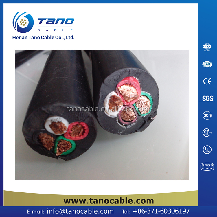 RUBBER cable manufacturer 30 years service life 4 core 6mm flexible cable 680TQ