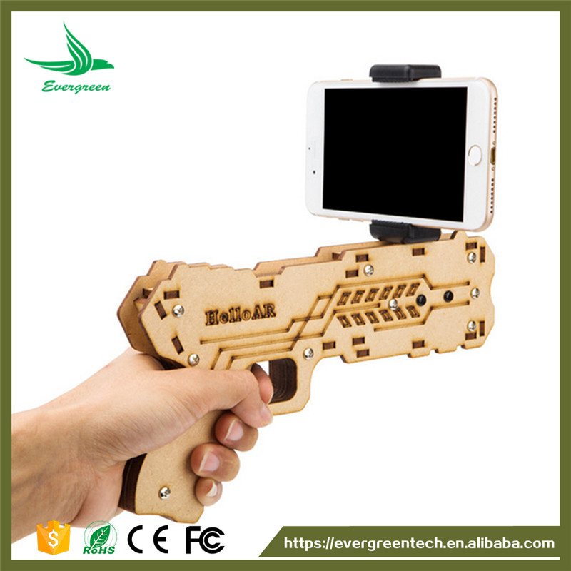 Evergreentech AR Gun DIY Bluetooth PLayer Reality AR Toy Gun with Cell Phone Stand Holder for Smartphones