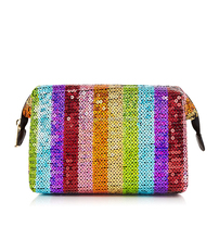 latest design glitter clutch bag funny makeup cosmetic bag bling bling cosmetic bag