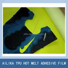 colorful tpu hot melt film for shoe upper laminating shoe materials