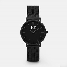 All Black Ladies Stainless Steel Mesh Strap High Quality Wrist Watch