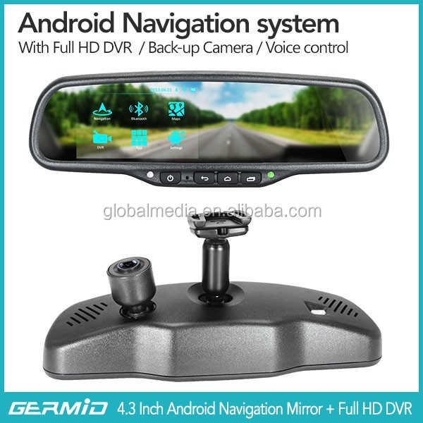 5 Inch Android 4.0 System Wifi+GPS Navigation+ Bluetooth Car Kit Rearview Mirror
