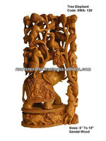 carved sandalwood statue/wood carving statue
