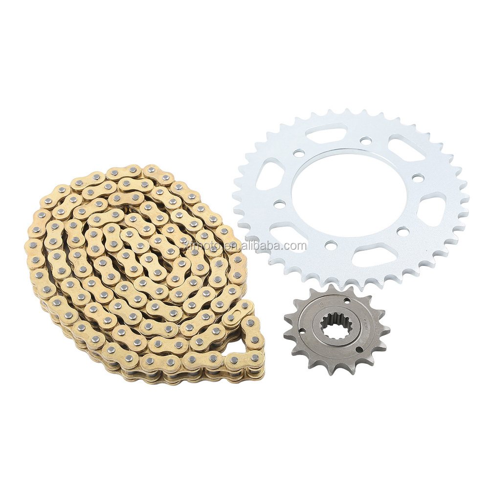 New Gold O-Ring Chain and Sprocket Kit For Ducati 1000 MONSTERS IE 2003-2004