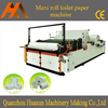 Automatic embossed jumbo roll rewinder slitting maxi roll toilet paper machine