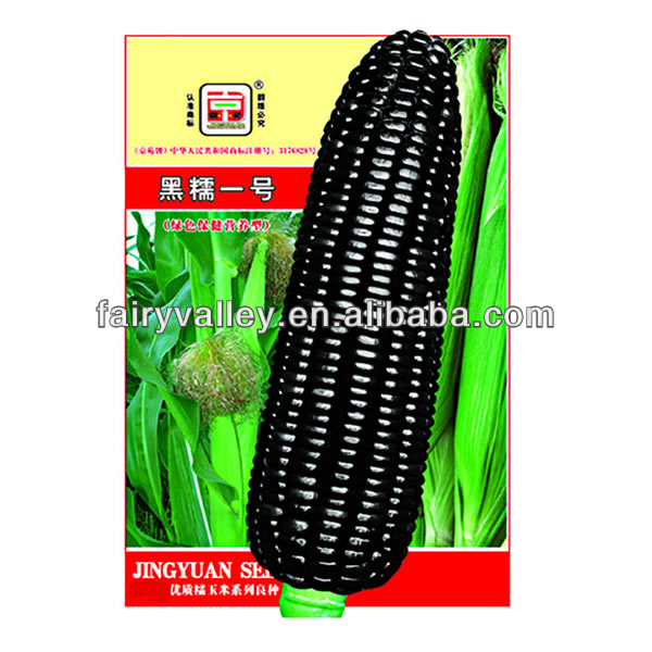 Hot Sale Hybrid Sweet Waxy Glutinous Yellow/White/Black/ Purple Corn Seeds For Sale