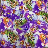 High Quality Water Repellent Polyester Oxford Star Heart Cartoon Print Fabric For Kids Bag