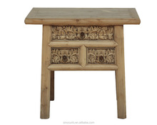 Antique Wood Carved Corner Table With Drawers Antique Console Table