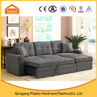 modern design three seater folded wide sofa bed for living room use