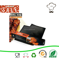 "BBQ Grill Mats -100% Non-stick, easy to clean and reusable- 15.75 x 13"" - (Set of 2)/OVEN LINER"