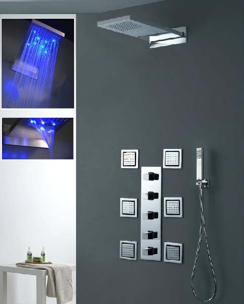 230*554*30mm Luxury Wall Mounted Rainfall Shower With 4 Inches ...