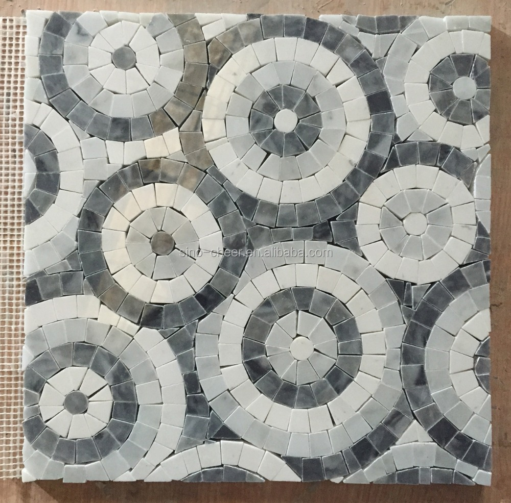 China elegant stone free mosaic art patterns