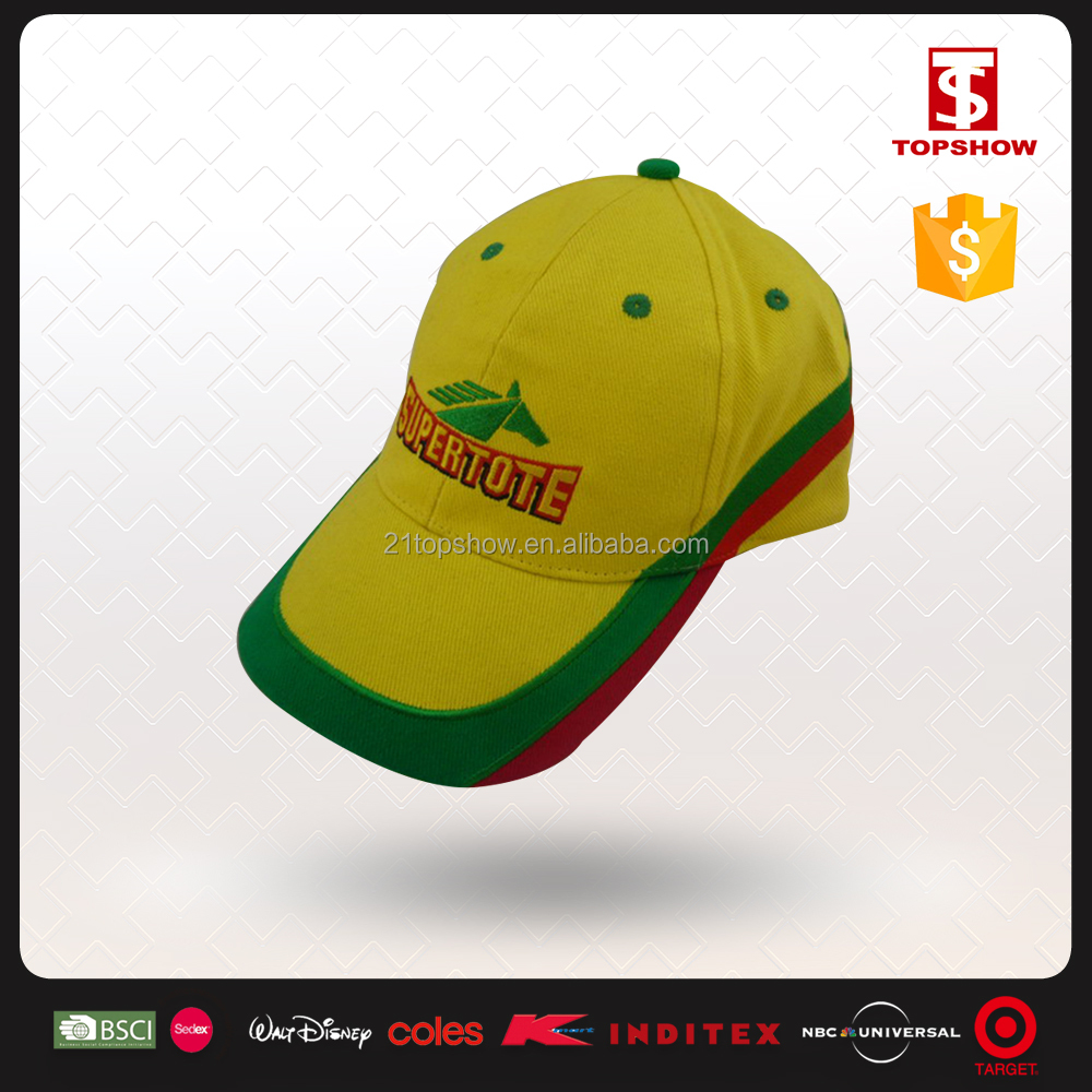 Export to Brazil 6 panel brush cotton embroidery cap