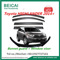 Window visor Window door visor bonnet guard For Toyota HIGHLANDER 2014+