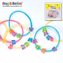 Kids plastic butterfly bracelets charms with sparkly decoration