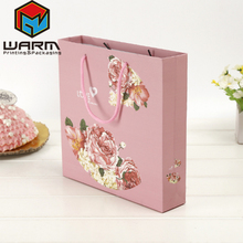 Chocolate Candy Food Gift Packaging Paper Bag with Cotton Handle