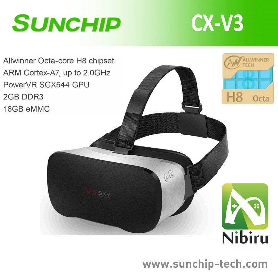 All-in-One OS HD Screen Bluetooth 3D VR Glasses with Allwinner H8 CPU, 5-inch HD Screen all in one without smartphone